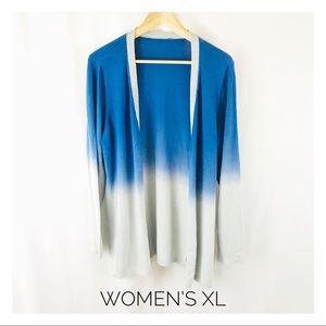 Chico's Women's XL Ombré Button Cardigan Blue